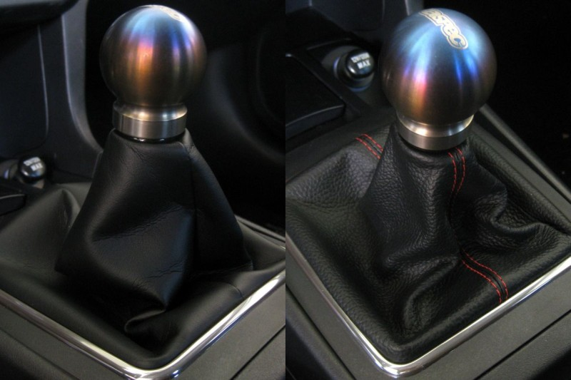 AUTO Black Leather-Black Thread RedlineGoods Shift Boot Compatible with Scion tC 2011-15