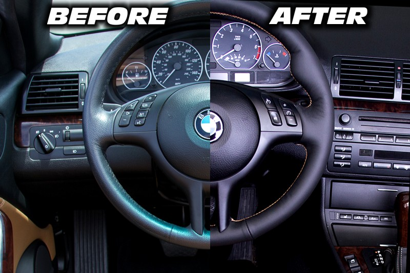 1999 04 Bmw 3 Series E46 Shift Boot Amp Steering Wheel Cover