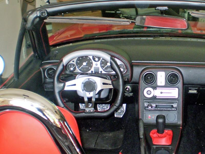 Black Alcantara-Silver Thread RedlineGoods ebrake Boot Compatible with Mazda Miata NA 1990-97