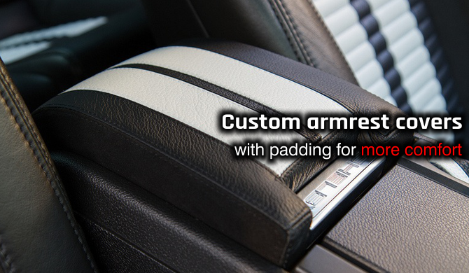 Get a padded armrest cover