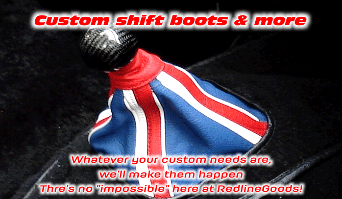 Custom leather shift boots and more!