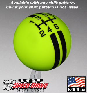 Lime Green / Black Rally Stripe Shift Knob-SK506NL-RBK
