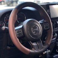 Jeep Patriot 2007-17 steering wheel cover (2011-15 post-lift)