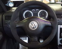 Volkswagen Jetta MK IV 2000-06 steering wheel cover (3-spoke)